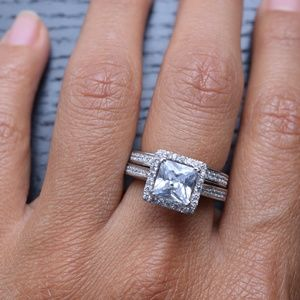 Jewelry - CERTIFIED 1.5ct Princess sterling silver